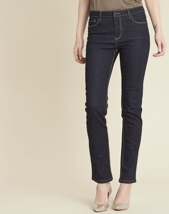 Vendôme 7/8 length navy blue jeans with zipped detailing navy.