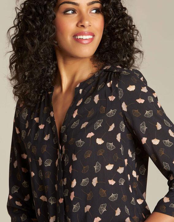 Arletty black gingko printed blouse PhotoZ | 1-2-3