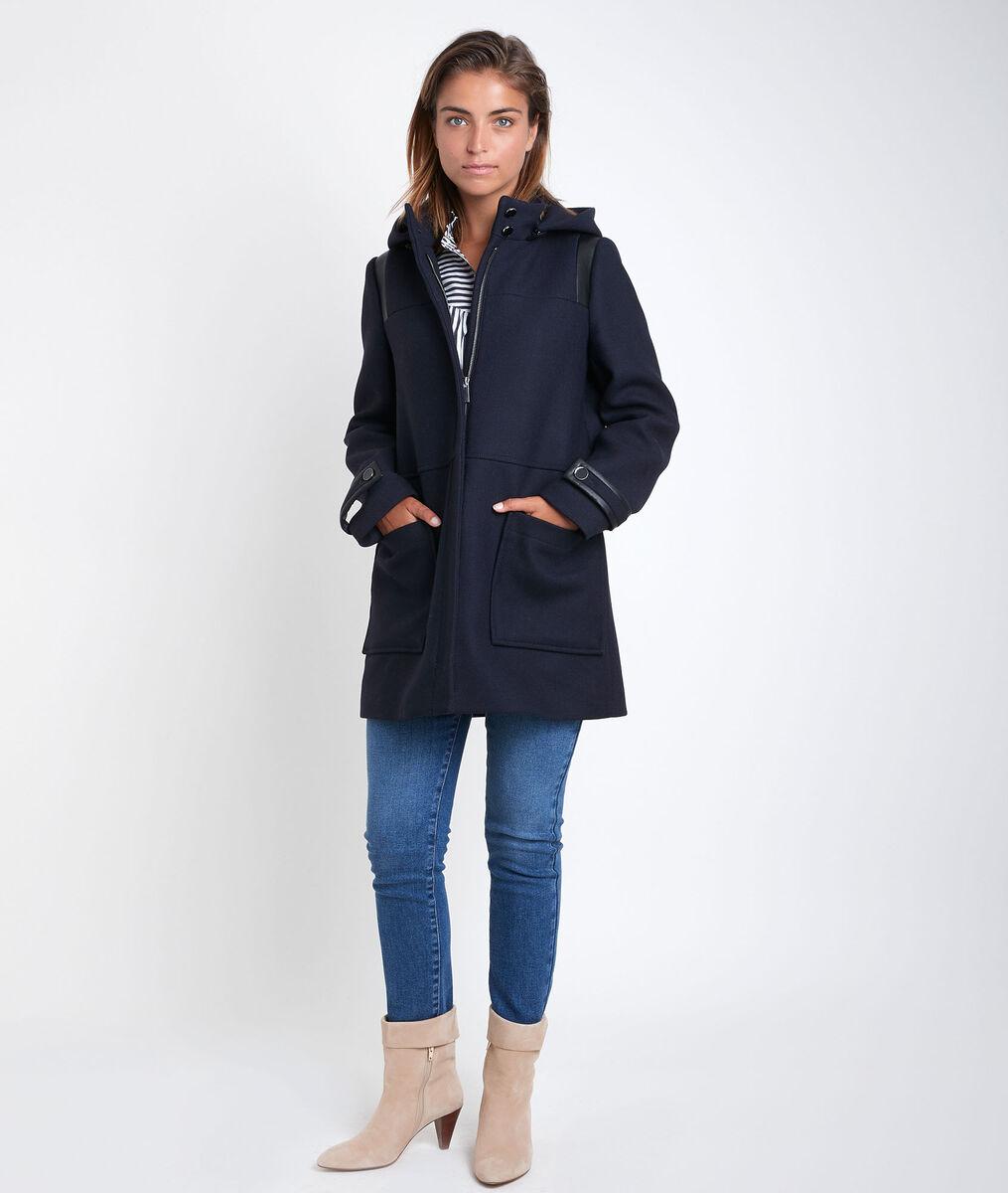 Manteau en laine recyclée à capuche Olivia PhotoZ | 1-2-3