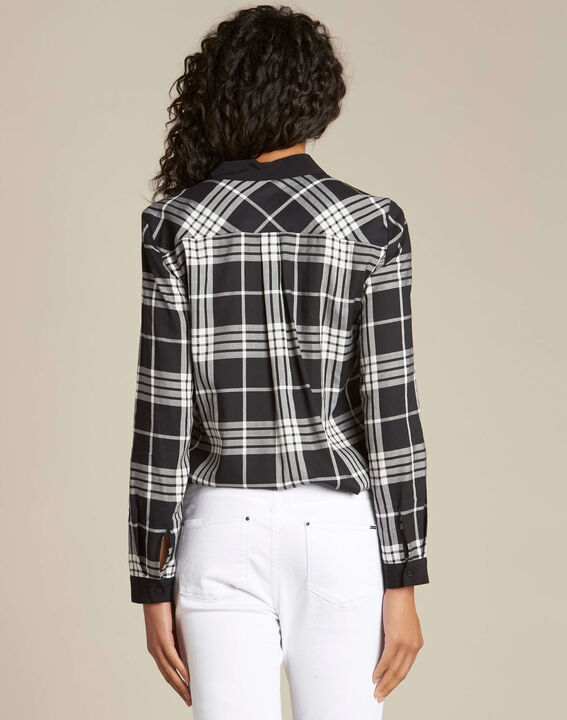 Dominique black and white check shirt (4) - 1-2-3