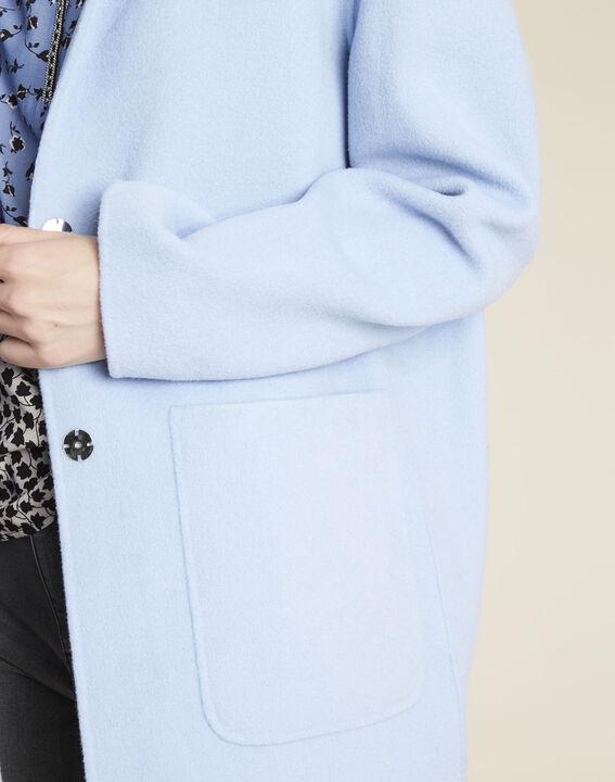 Azuurblauwe mantel Elea (3) - 37653