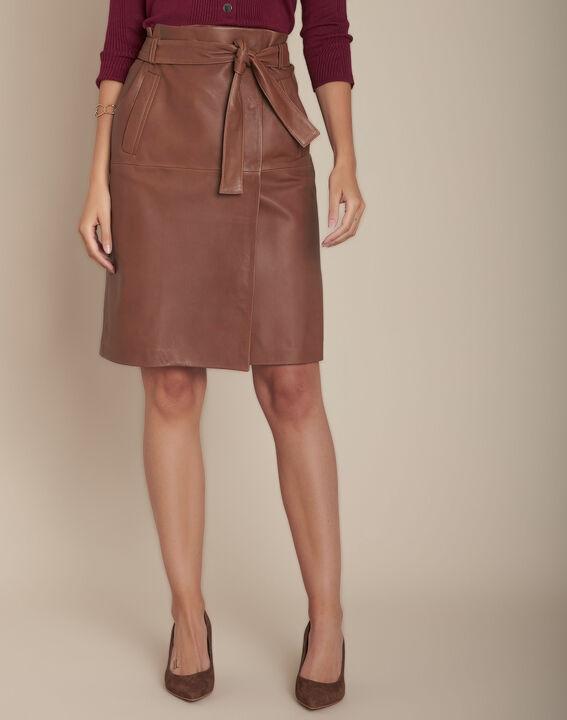 Jupe portefeuille en cuir Kim PhotoZ | 1-2-3