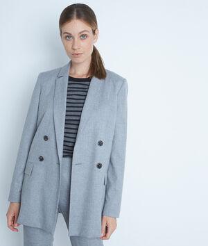 Veste de blazer croisée grise Florine