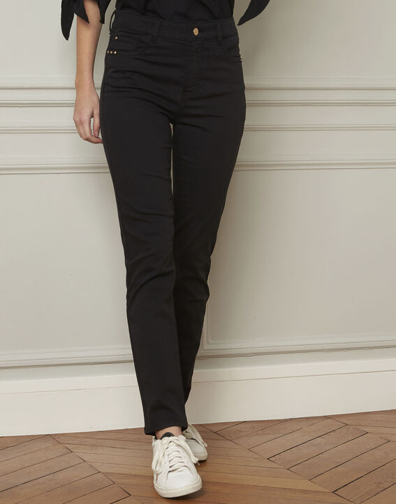 Jean noir slim en coton 7/8 Vendome PhotoZ | 1-2-3