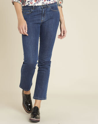 Victor flared 7/8 length jeans dark indigo.