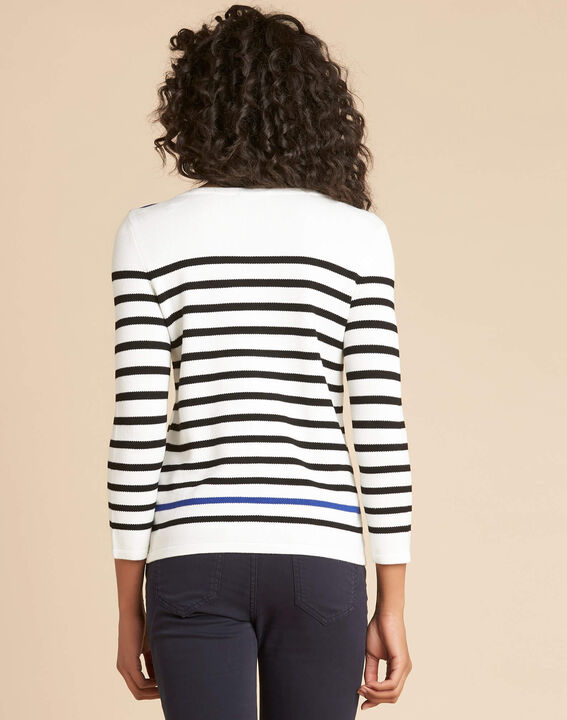 Navire blue and white striped sweater (4) - 1-2-3