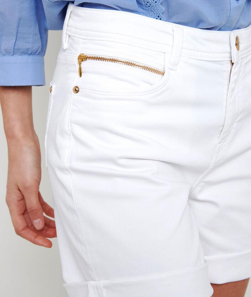 Short en coton biologique blanc Alma PhotoZ | 1-2-3