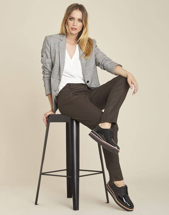 Vendôme 7/8 length ebony coated jeans (2) - 1-2-3
