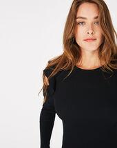 Paule black off-the-shoulder sweater black.