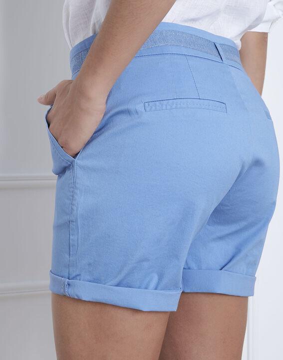 Short bleu en coton ceinturé James (4) - Maison 123