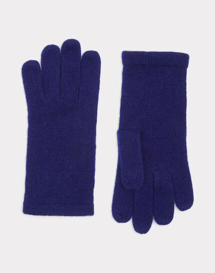 Blaue Kaschmir-Handschuhe Tulipe (1) - 1-2-3