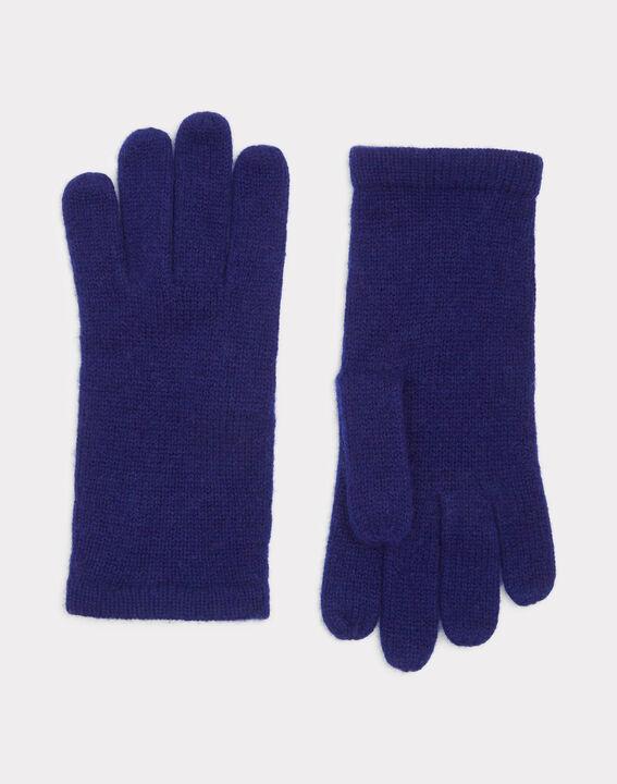 Gants bleus en cachemire Tulipe PhotoZ | 1-2-3