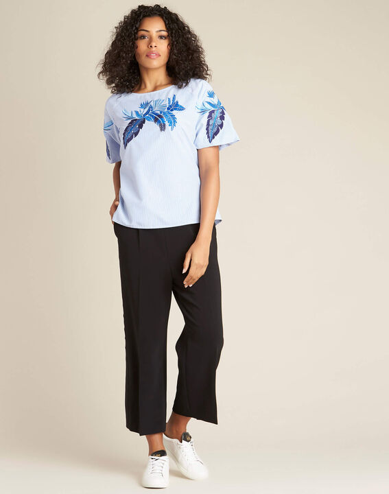 Grace blue embroidered blouse (3) - 1-2-3
