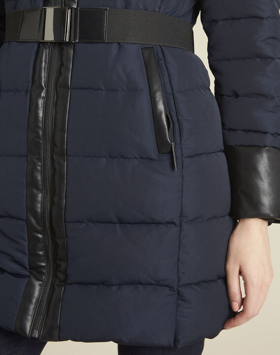 Phiby navy belted down jacket (3) - Maison 123