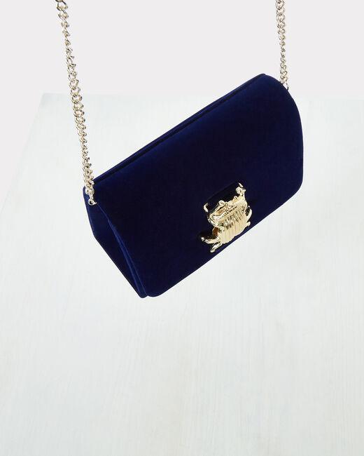 Pochette bleue en velours Ritchie (2) - 1-2-3
