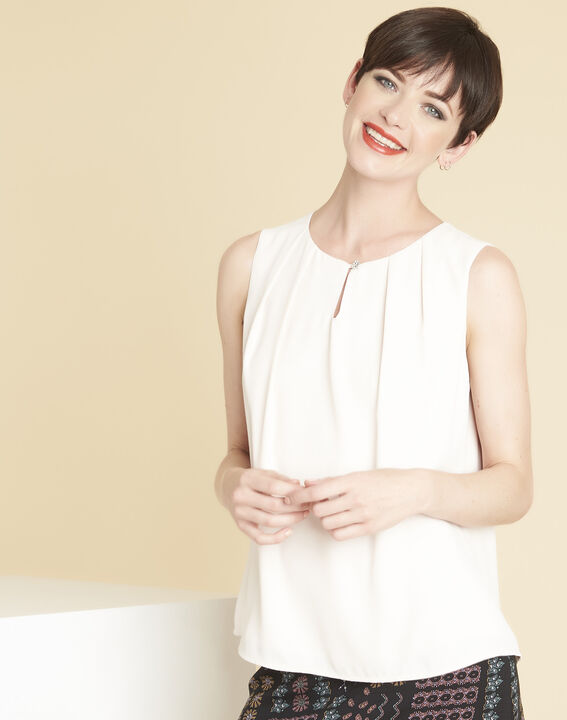 Fanette nude top with jewelled neckline PhotoZ | 1-2-3