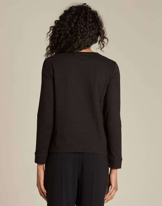 Electron black embroidered sweatshirt (4) - 1-2-3
