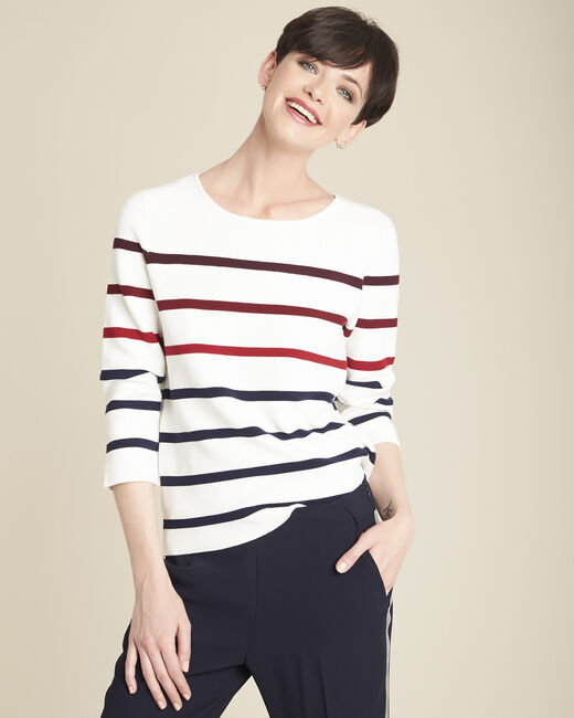 Berlingot ecru striped jumper (2) - 1-2-3