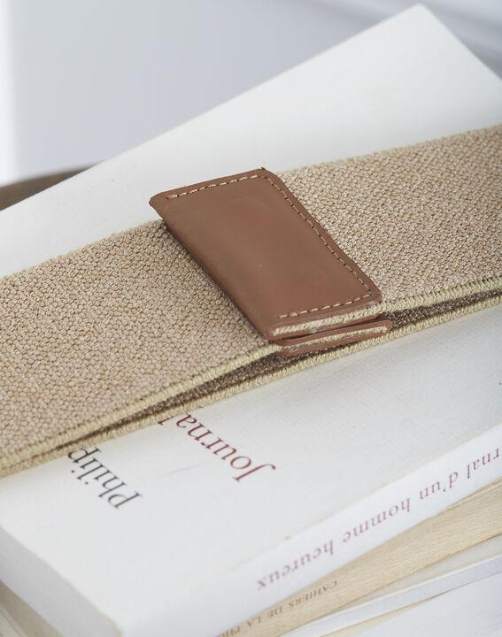 Ceinture élastique marron mix cuir et tissu Kate (2) - Maison 123