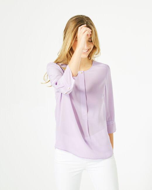 Blouse lilas en soie Dorothée (2) - 1-2-3