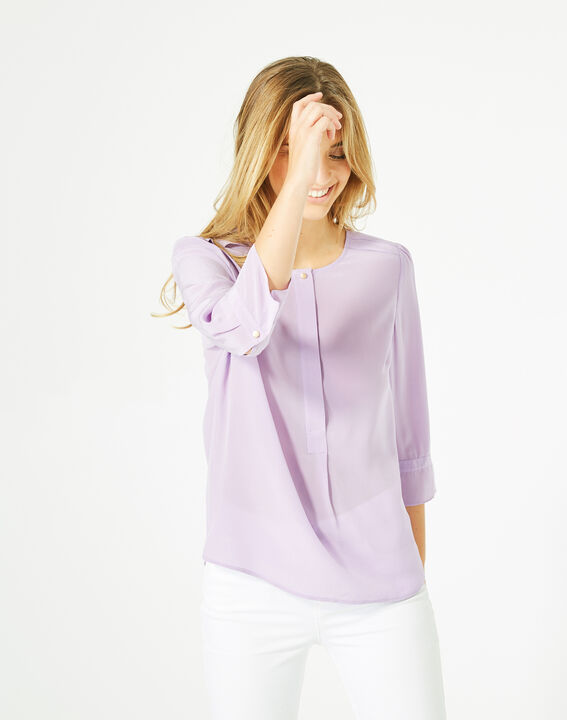 Dorothée lilac silk blouse PhotoZ | 1-2-3