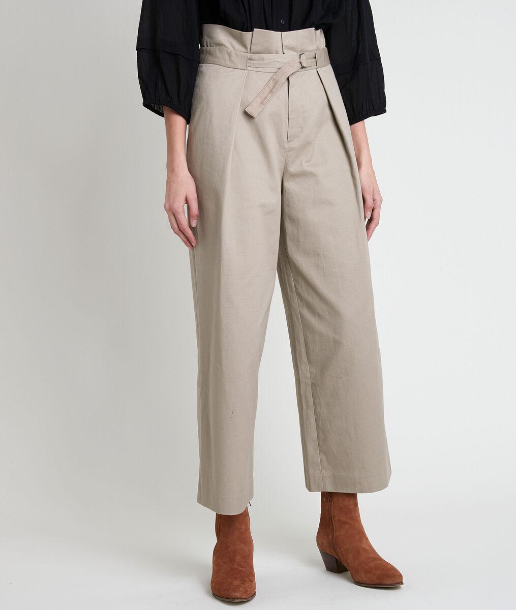 Pantalon large beige Flore PhotoZ   1-2-3