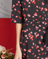Robe noir imprimé macarons Pippa (1) - 1-2-3