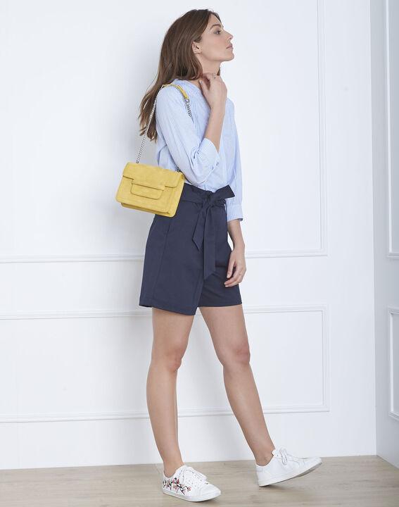 Blaue, gestreifte Hemdbluse Vivica (2) - Maison 123