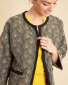 Cajin ethnic printed blouse in camel (1) - 1-2-3