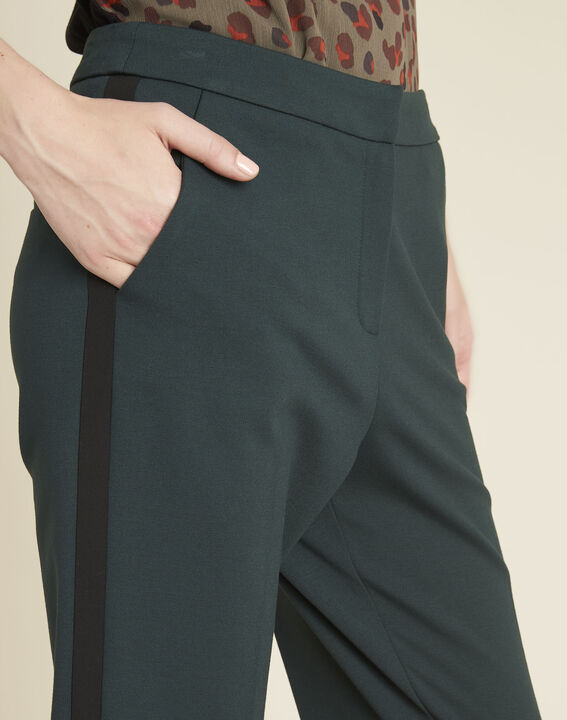 Vadim emerald green tapered Milano trousers (3) - 1-2-3