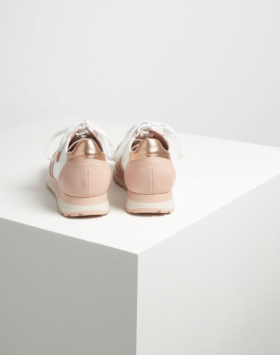 King rose gold and white leather trainers (4) - 1-2-3