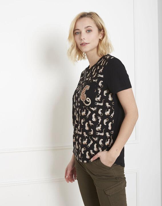 Tee-shirt noir panthère Peluche (2) - Maison 123
