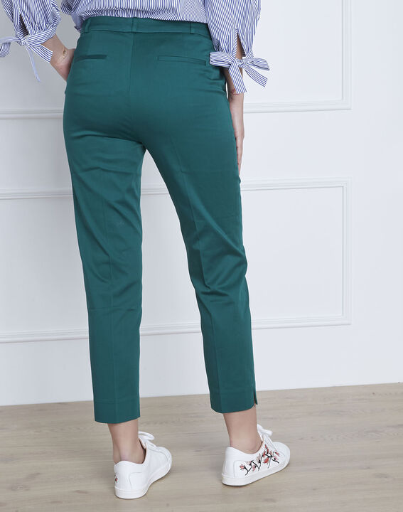 Pantalon vert cigarette Rubis (4) - 1-2-3