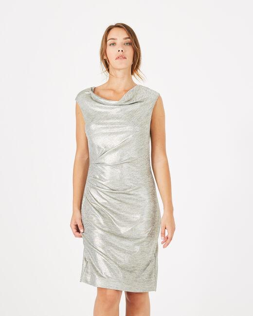 Robe argentée brillante Assina (2) - 1-2-3