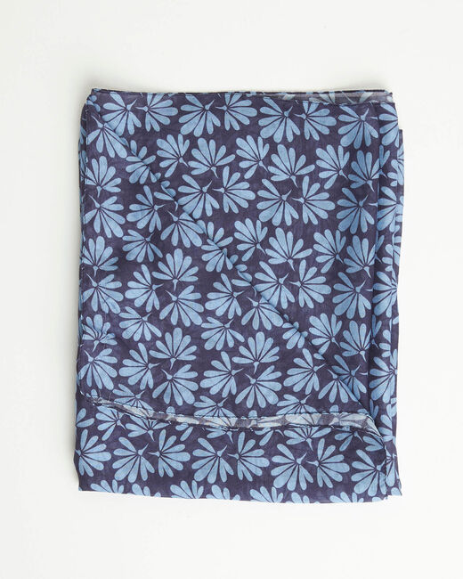Annick blue floral print scarf (2) - 1-2-3