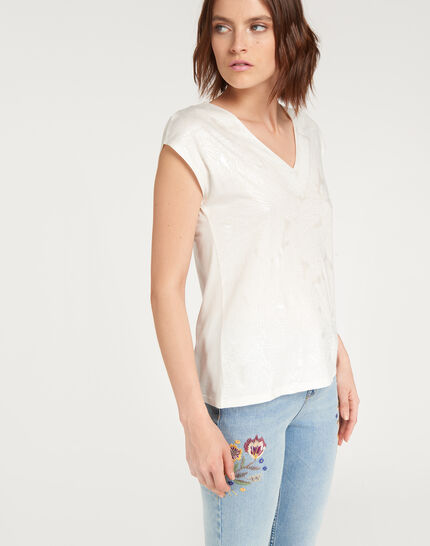 Tee-shirt écru imprimé fleuri Nalma (3) - 1-2-3