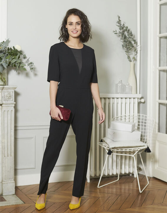 Drama Loose-fitting Black Jumpsuit PhotoZ | 1-2-3
