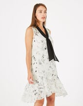 Gatsby printed dress black/white.