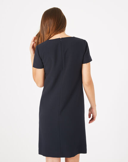 Alienor close-fitting navy blue dress (5) - 1-2-3