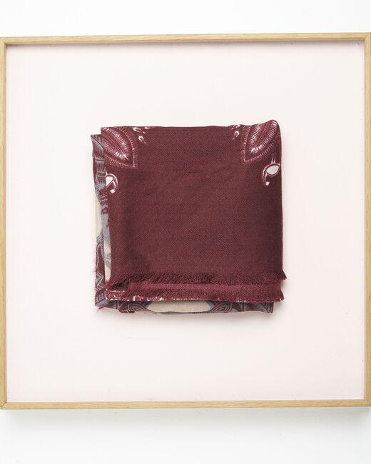 Foulard rouge imprimé fleuri Fabuleux (2) - 1-2-3