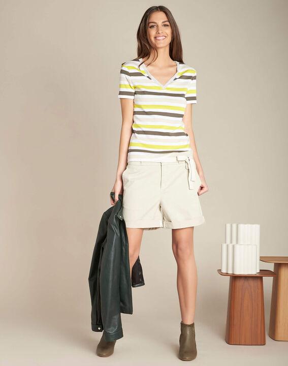 James ecru cotton shorts (2) - 1-2-3