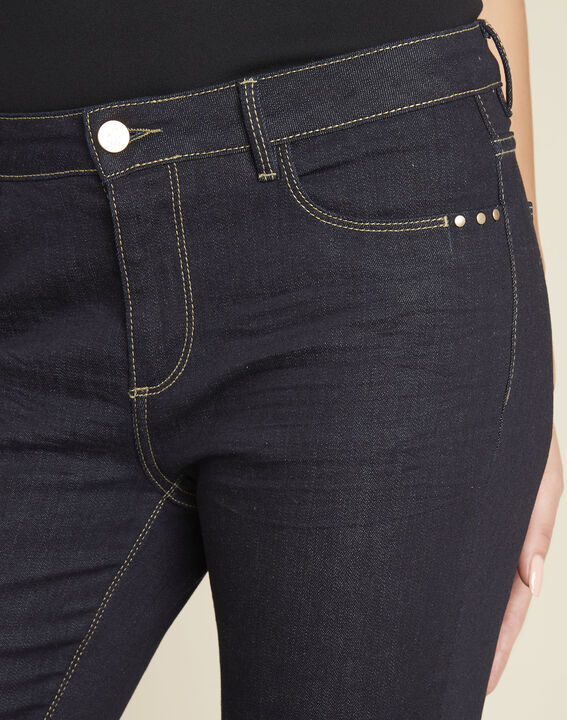 Lange Slim-Fit Raw Denim-Jeans Vendome (3) - 1-2-3