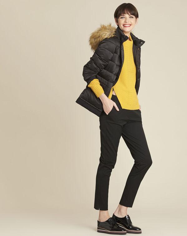 Gele trui met hoge kraag van gemengd wol Brindille (2) - 37653