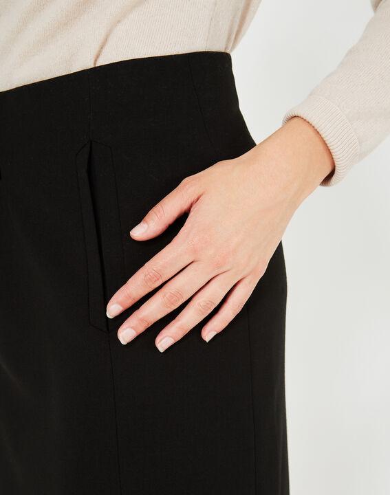 Folk black tailored skirt (4) - 1-2-3