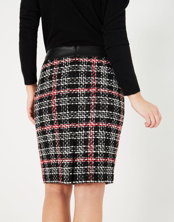 Felicia black and white check skirt (4) - 1-2-3