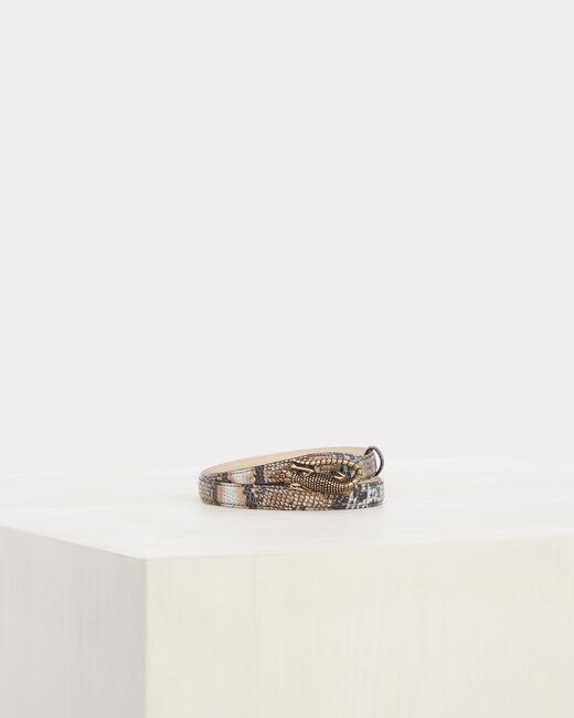 Oliver fine animal print belt in leather (1) - 1-2-3