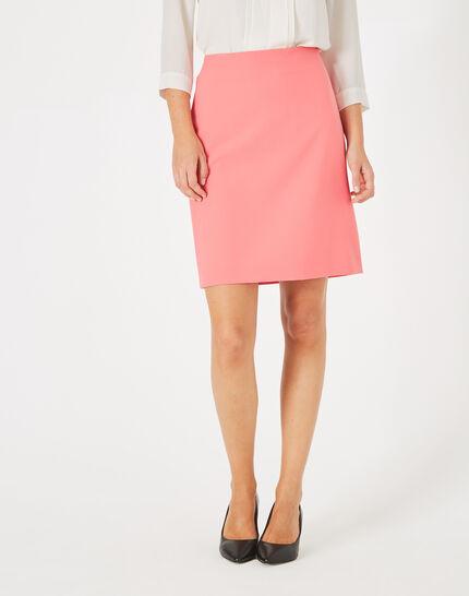 Jupe de tailleur rose droite Fantastic (3) - 1-2-3