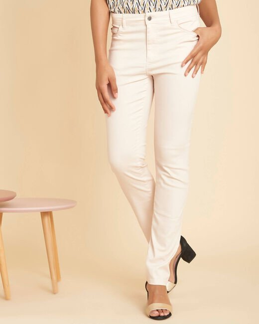 Jean rose pale slim enduit taille normale Valley (2) - 1-2-3