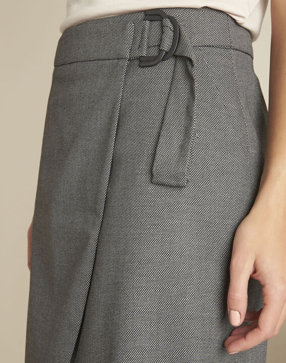 Lorine grey wallet skirt with buckle (3) - 1-2-3