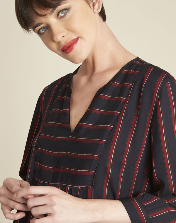 Cristabelle red striped blouse (2) - 1-2-3
